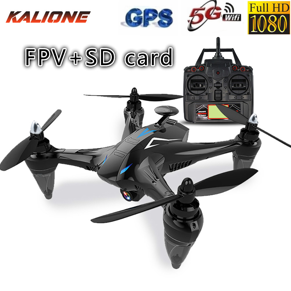 GW198 FPV   SD Card RC quadcopter with camera HD DRONE GPS  with a cam 1080P drones profesionales selfie quadrocopter 5G dron