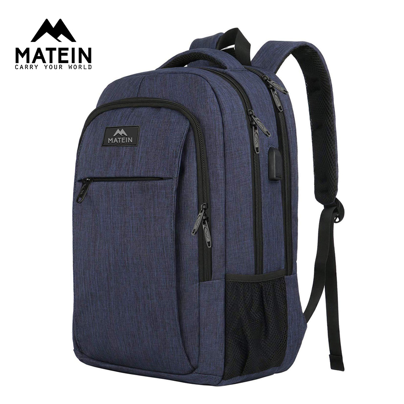 Matein Anti-theft Backpack 15.6 Inch Laptop Backpack For Women Men School Bag Female Male Travel Waterproof Travel Backpack