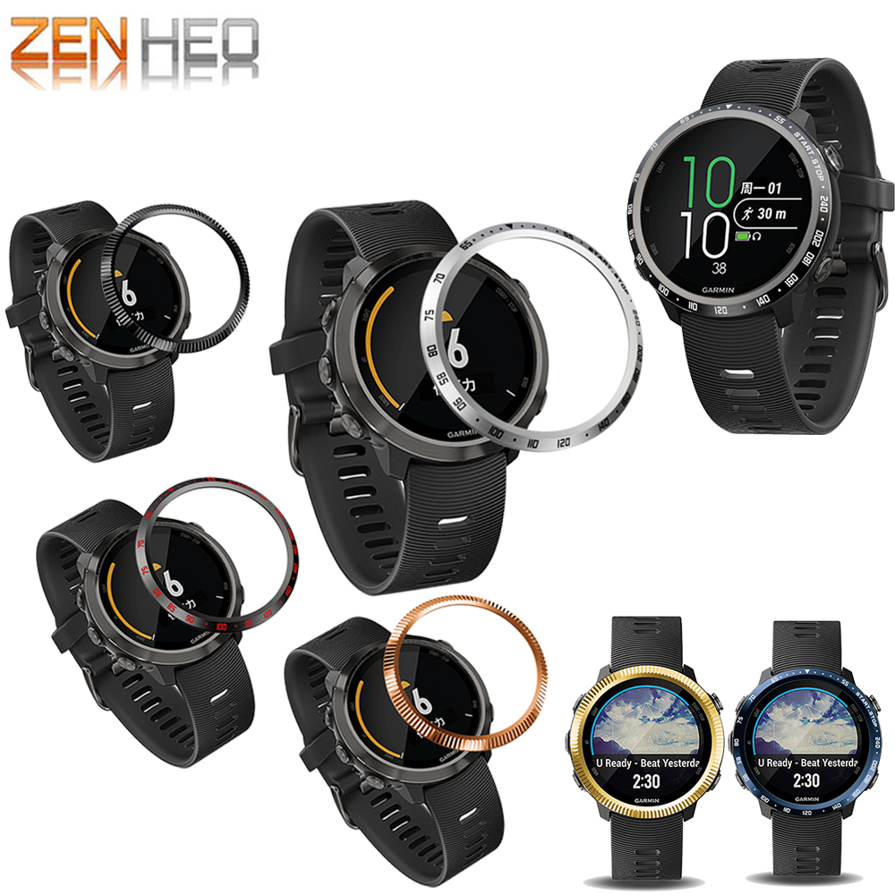 For Garmin Forerunner 645 Bezel Ring Styling Frame Case Cover Protection For Forerunner 645 Music Ring Anti Scratch Protector