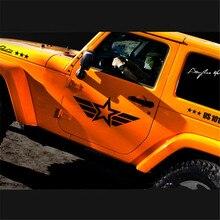 """אביזרי רכב לג יפ הונדה אקורד סיוויק מאזדה אופל Corsa D הכי מגניב ארה""""ב כוכב דפוס אוטומטי מותניים קו צד דלת מדבקת מדבקות"""