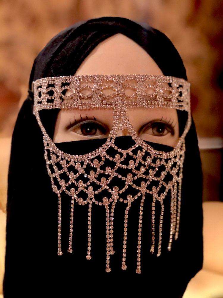 1 Pcs Shiny Diamond Rhinestone Mask Women Sexy Party Jewelry Hallowmas Half face Mask Party Dance Mask Masquerade Cosplay Decor