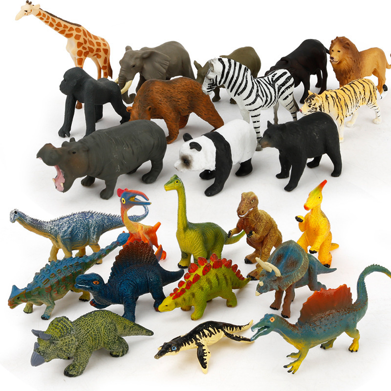 Children Cognition Model Early Education Toys Mini Simulation Dinosaur Ocean Wild Animal World Decoration Sand Table Scene Toys
