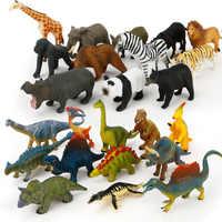 Children Cognition Model Early Education Toys Mini Simulation Dinosaur Ocean Wild Animal World Decoration Sand Table Scene Toys