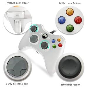 Image 2 - USB Wired Vibration Gamepad Joystick For PC Controller For Windows 7 / 8 / 10 for Xbox 360 Joypad Games Hot Selling Black White