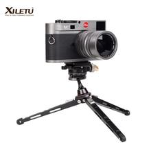 XILETU XBC20 + XT18 גבוהה נושאות שולחן עבודה סוגר מיני חצובה שולחן כדור ראש עבור DSLR מצלמה ראי מצלמה Smartphone