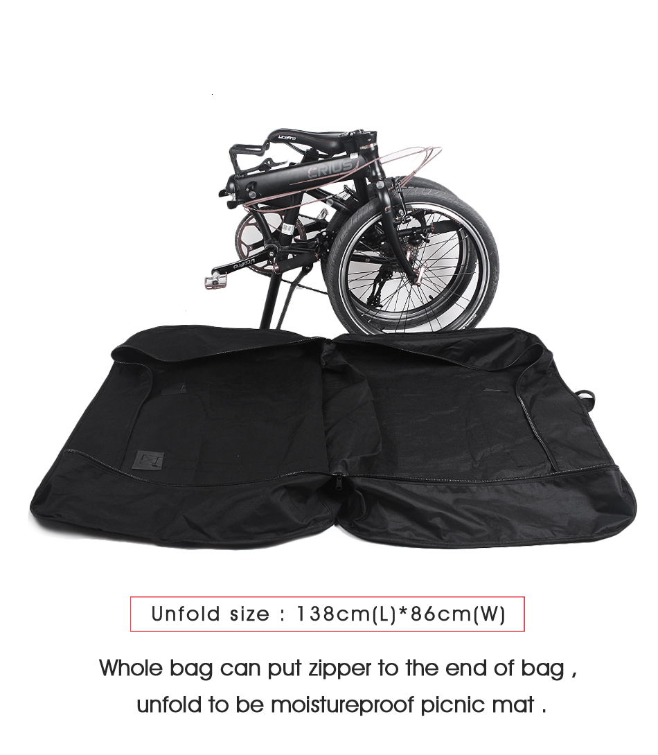 Cheap Rhinowalk 14 inch 20 inch Folding Bike Bag Loading Vehicle Carrying Bag Pouch Packed Car Thickened Portable Bicycle Pack 27