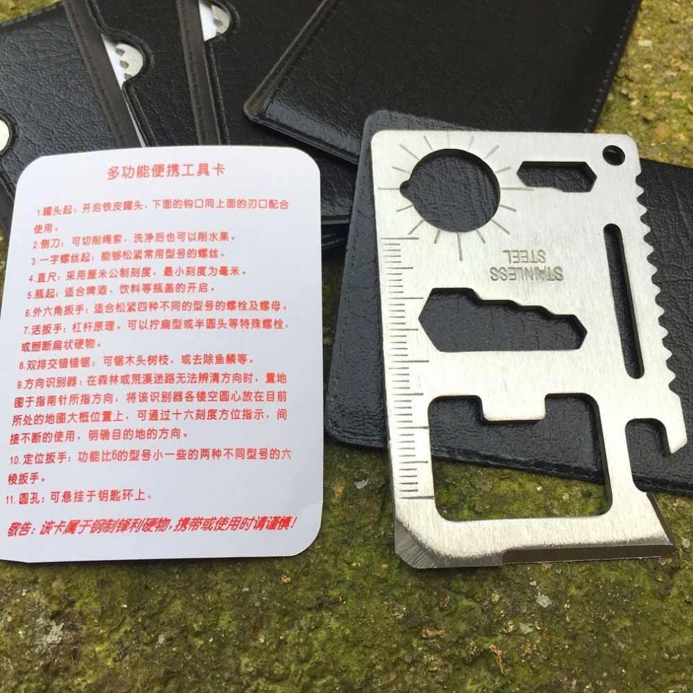 بطاقة سكين السويسرية متعددة الوظائف بطاقة سكين الجمع مع أدوات إنقاذ طقم أدوات تجميل أداة بطاقة سكين الجمع