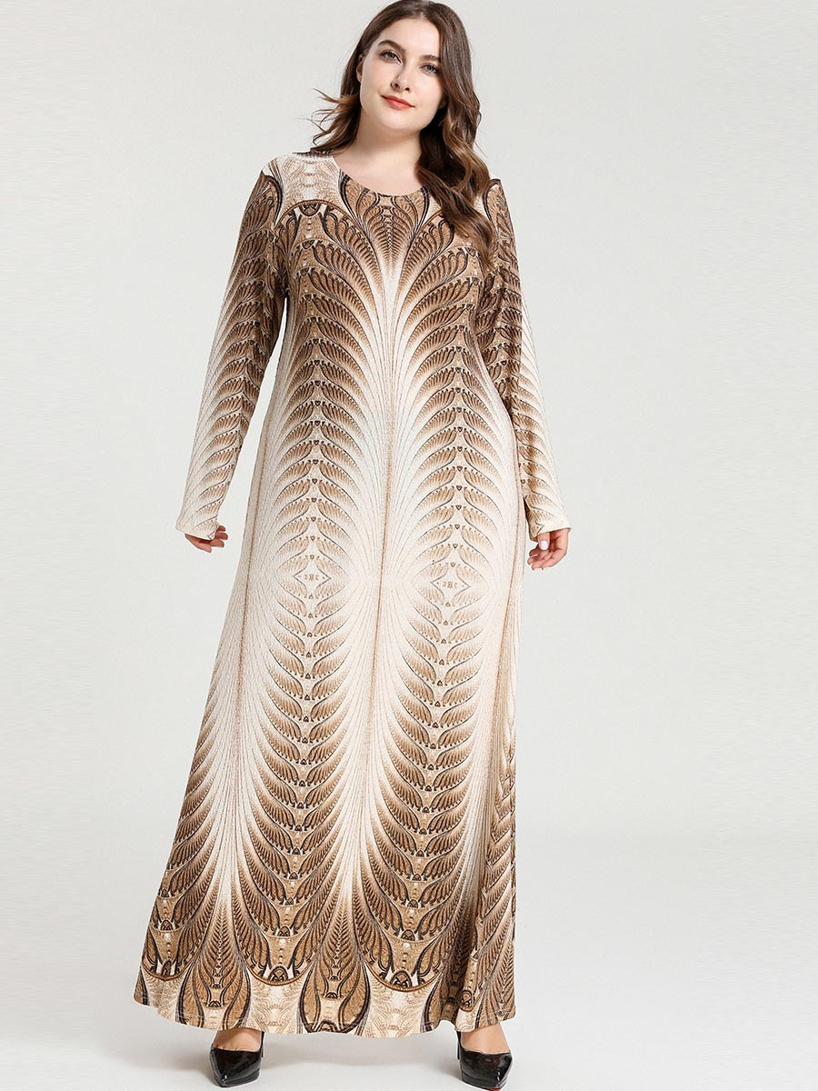 Abayas Muslim Dress Dubai abaya Stretchy Geometric marokkaanse kaftan islamic dresses for Women vestidos 3XL 4XL