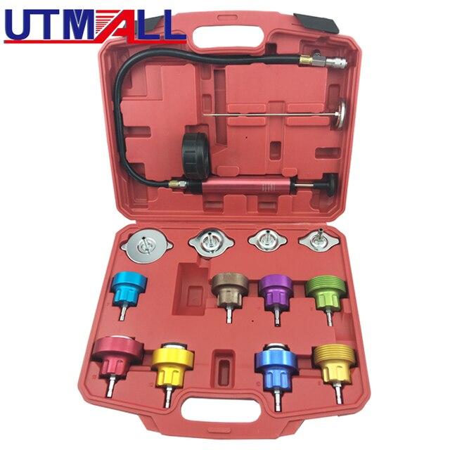 14PCS Universal Radiator Pressure Tester Kit For Water Tank Leak Leakage Detector