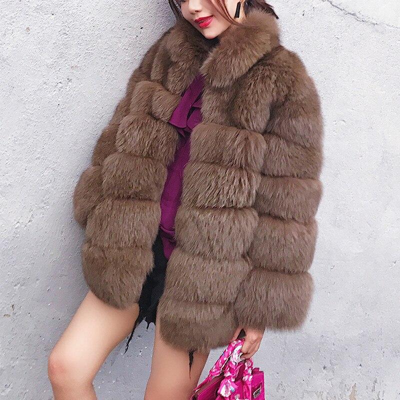 2019 Women Faux Fur Coat Women Winter Warm Soft Female Thick Plush Coat Plus Size Outwear Woman Casual Overcoat Female Overcoat