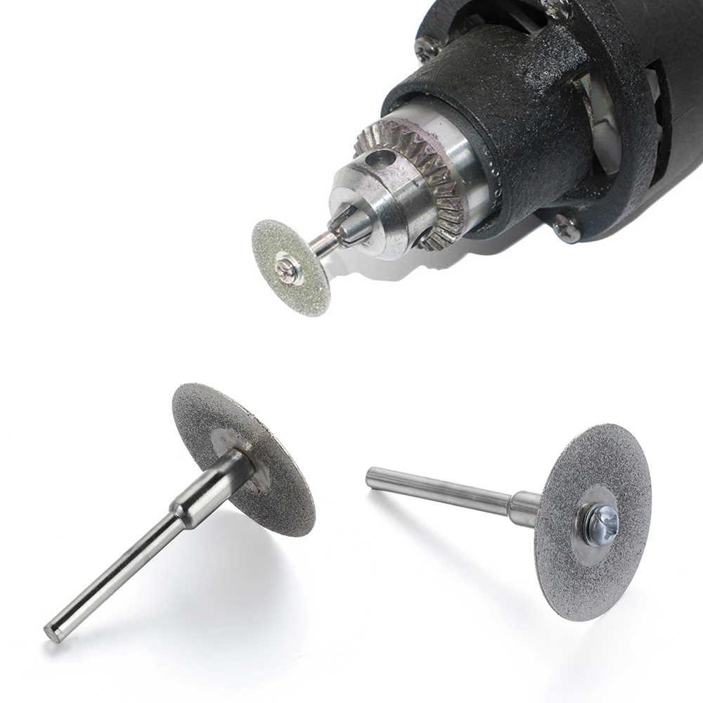 1/12pcs 20-50mm แผ่นตัดเพชรชุด Mini แก้วหินหยกเลื่อยวงเดือนใบมีดบดตัดล้อกระเบื้องขัดเครื่องมือโรตารี่