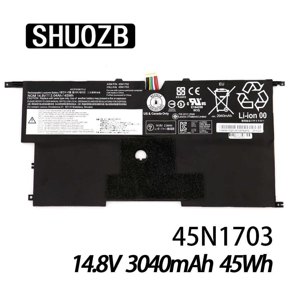 45N1703 45N1700 45N1701 45N1702 X1 بطارية كمبيوتر محمول لينوفو ثينك باد X1 الكربون Gen3 20A7 20A8 4ICP5/58/73-2 14.8V 45Wh SHUOZB