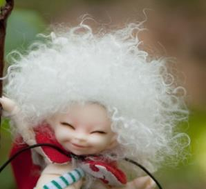 1/8 1/12 <font><b>bjd</b></font> <font><b>wig</b></font> doll hair Afro wild-curl up <font><b>wig</b></font> soso similar <font><b>wig</b></font> baby boy girl <font><b>wig</b></font> silvery white pink <font><b>brown</b></font> short curly fashion image