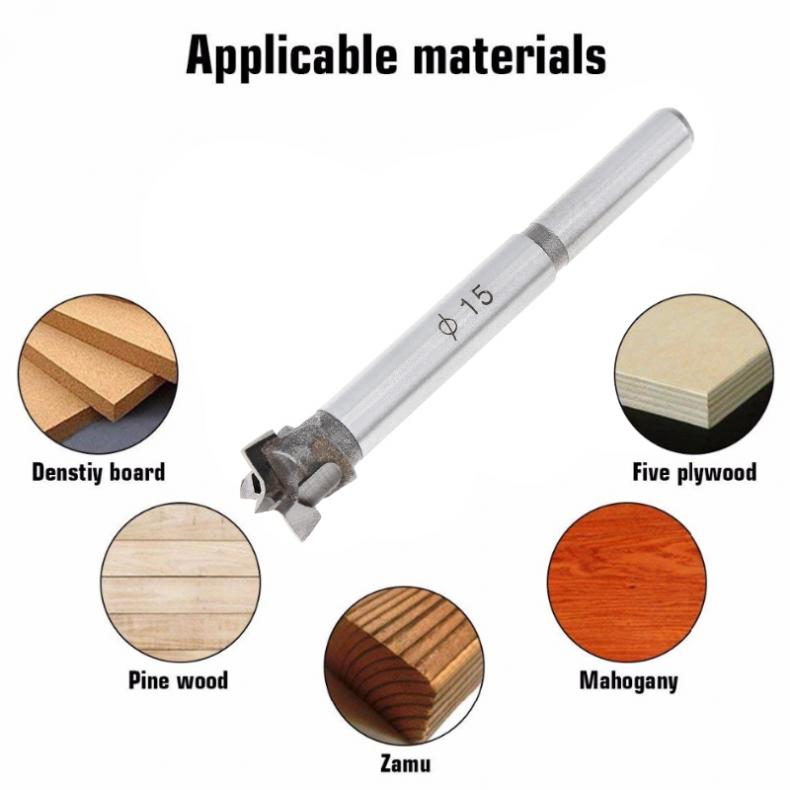 15mm Tungsten Steel Hard Alloy Wood Drill Bits Woodworking Hole Opener For Drilling On Plasterboard/Plastic Boards/Wooden Board