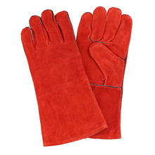 Leather Welding Gloves Heat Resistant Glove Red Welders Glove 1 pair welding heat resistant gloves safety gauntlets protection heavy duty black mig leather cowhide welders working gloves