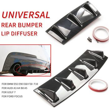 Rear Bumper Lip Diffuser Fin Shark Style Universal Car-Styling fit bmw e92 e90 e60 f30 f10 audi a3 a4 b8 a5 golf 7 ford focus image