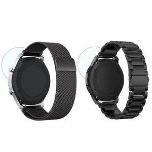 Image 4 - 22mm uniwersalna pętla Milanese do Samsung Gear S3 Classic/S3 Frontier/galaxy watch 46mm regulowany pasek ze stali nierdzewnej