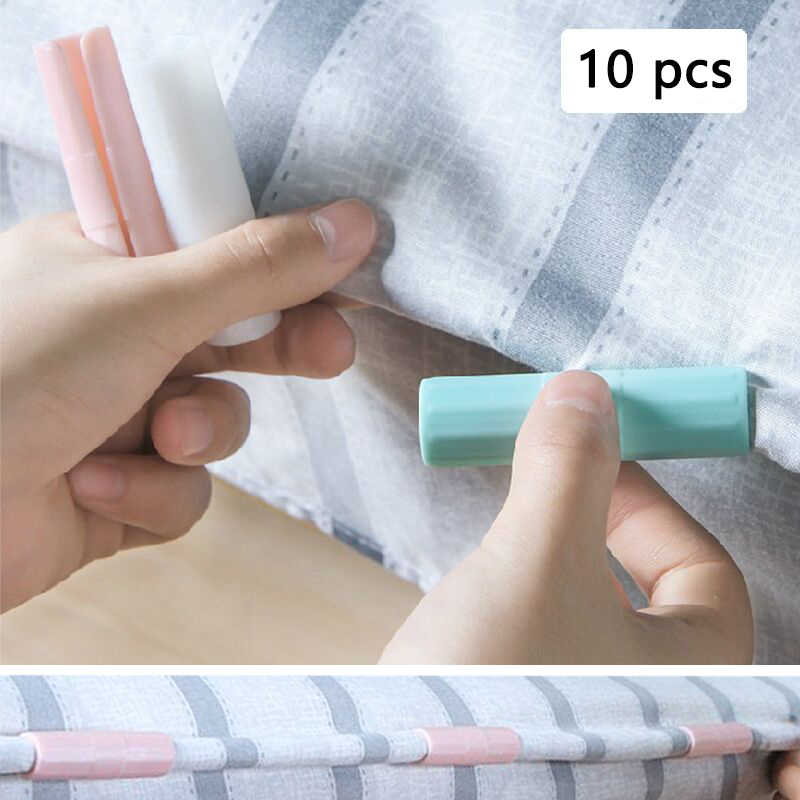 10pcs/set Bed Sheet Clip Mattress Grippers Fasteners Clothes Pegs Coverlet Holder Slip-Resistant Fixing Clip Holders Clamp