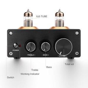 Image 2 - Aiyima bluetooth 5.0 hifi 6j5 튜브 프리 앰프 앰프 ne5532 프리 앰프 amplificador 톤 보드 treble bass 볼륨 조정