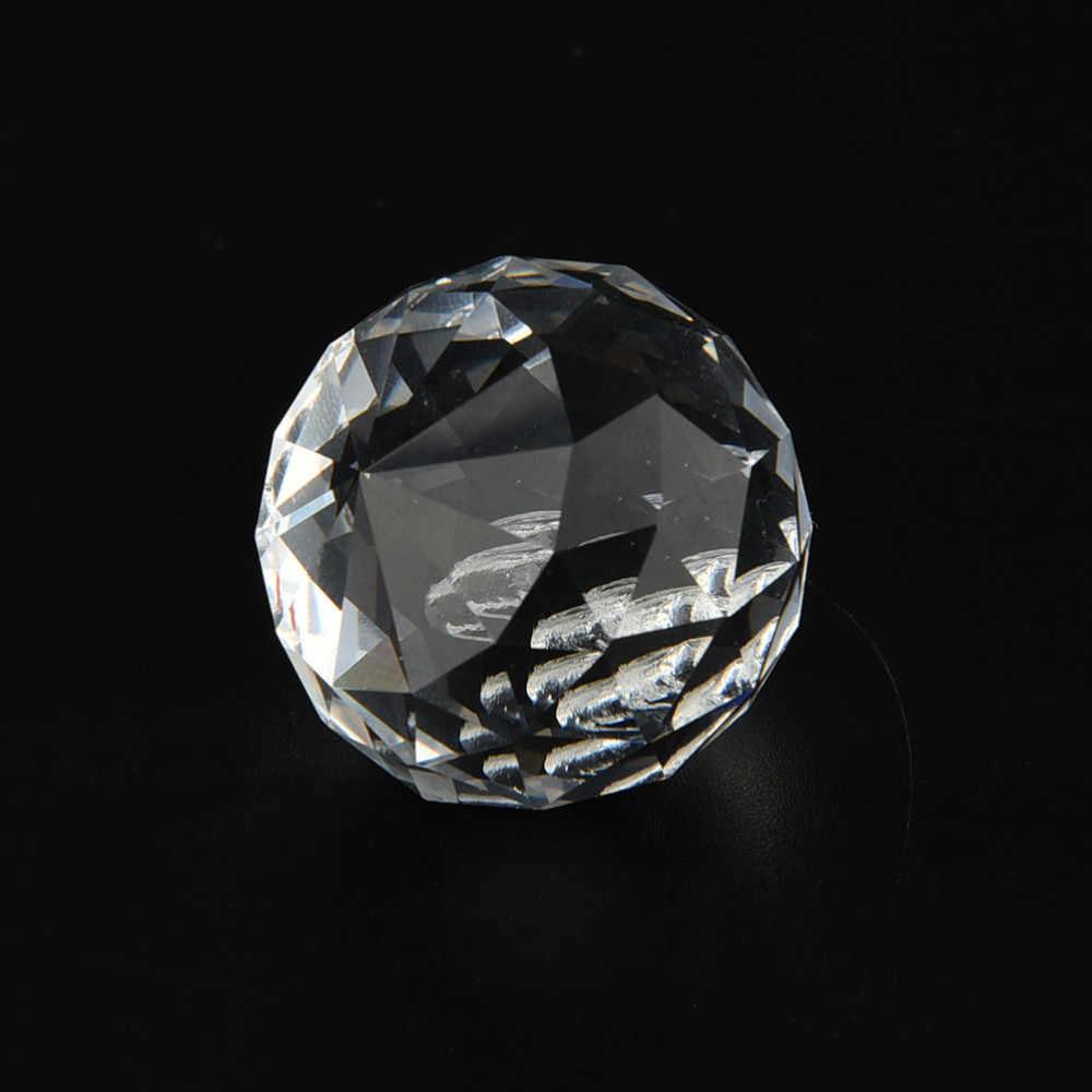 1PC Facettierte Glas Kristall Kronleuchter Teile Klar Suncatcher Lampe Dekoration Anhänger Prismen Beleuchtung Ball