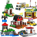 Конструктор «городской город», улица, вид, ферма, деревня, набор строительных блоков, магазин, пикап, архитектура, модель дома, друзья, обучаю...