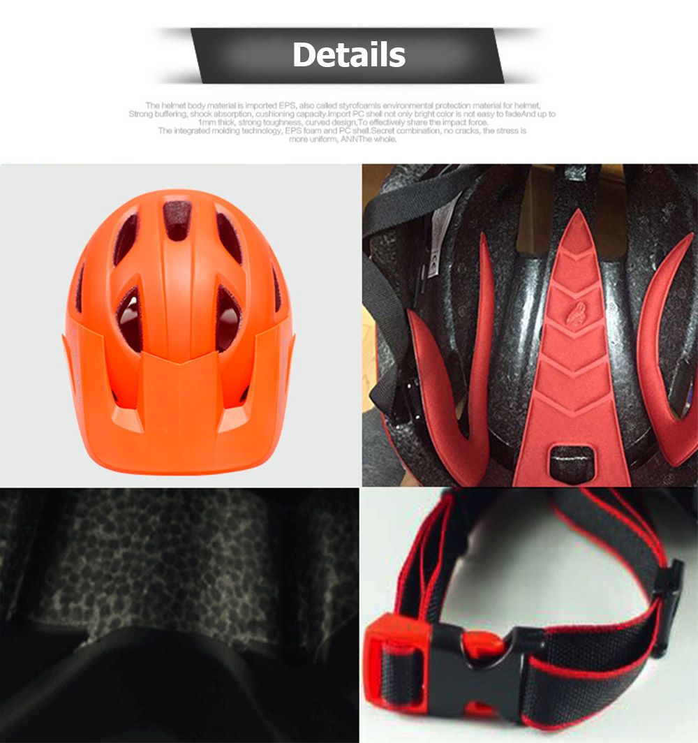 Cycling Helmet With Visor Ultralight MTB Road Bike EPS Helmets Mountain Bicycle Safety Integrally-mold Head Cover Casco BC0081 (9)