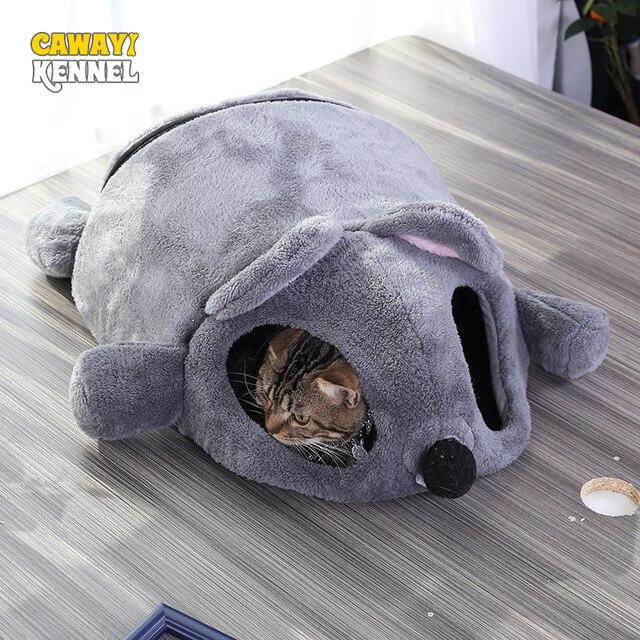 CAWAYI KENNEL 부드러운 애완 동물 집 개 침대 개 고양이 작은 동물 제품 Cama Perro Hondenmand Panier Chien Legowisko Dla Psa