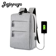Jojopugo 2020 Newest Unisex Backpack USB External Charge 15.6 Inch Laptop Backpack Men School Backpack bags #B0008