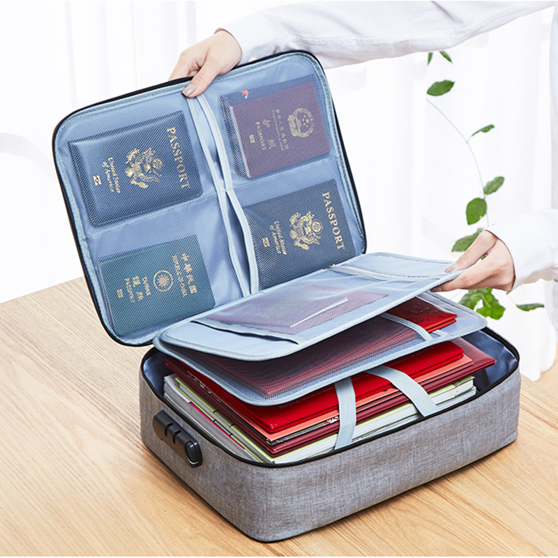 Password Office Organizer Bag Business Travel Tote Bag Multi Pouch Credit Card Wallet Cash Holder Organizer Case Box Accessories