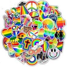 50pcs Rainbow Graffiti Stickers DIY Skateboard Guitar Fridge Laptop Luggage Bike Phone Cool Waterproof Sticker Decal Kid Toys