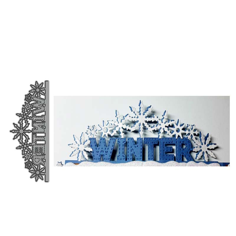 Winter Letter Metal Cutting Dies Cut Die Mold Decoration Scrapbooking Embossing Paper Craft Mould Punch Stencils
