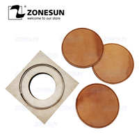 ZONESUN Round Cup Mat Flower Customized Leather Clicker Die Handicraft Tool Punch Cutter Die Cutting Mould Diy Paper Laser Knife