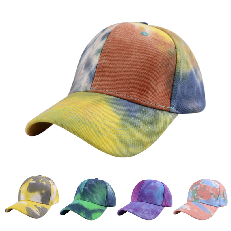 2020 Fashion Summer Tie-Dye Baseball Cap Spring Men Women Trend Lovers Colorful Snapback Hat Outdoor Adjustable Sun Graffiti Hat