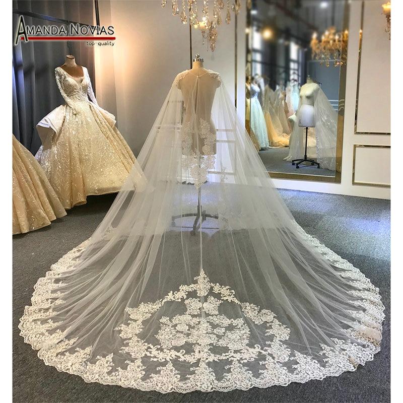 New Lace Long Veil Tulle Cape Wedding Capes Bridal Capes