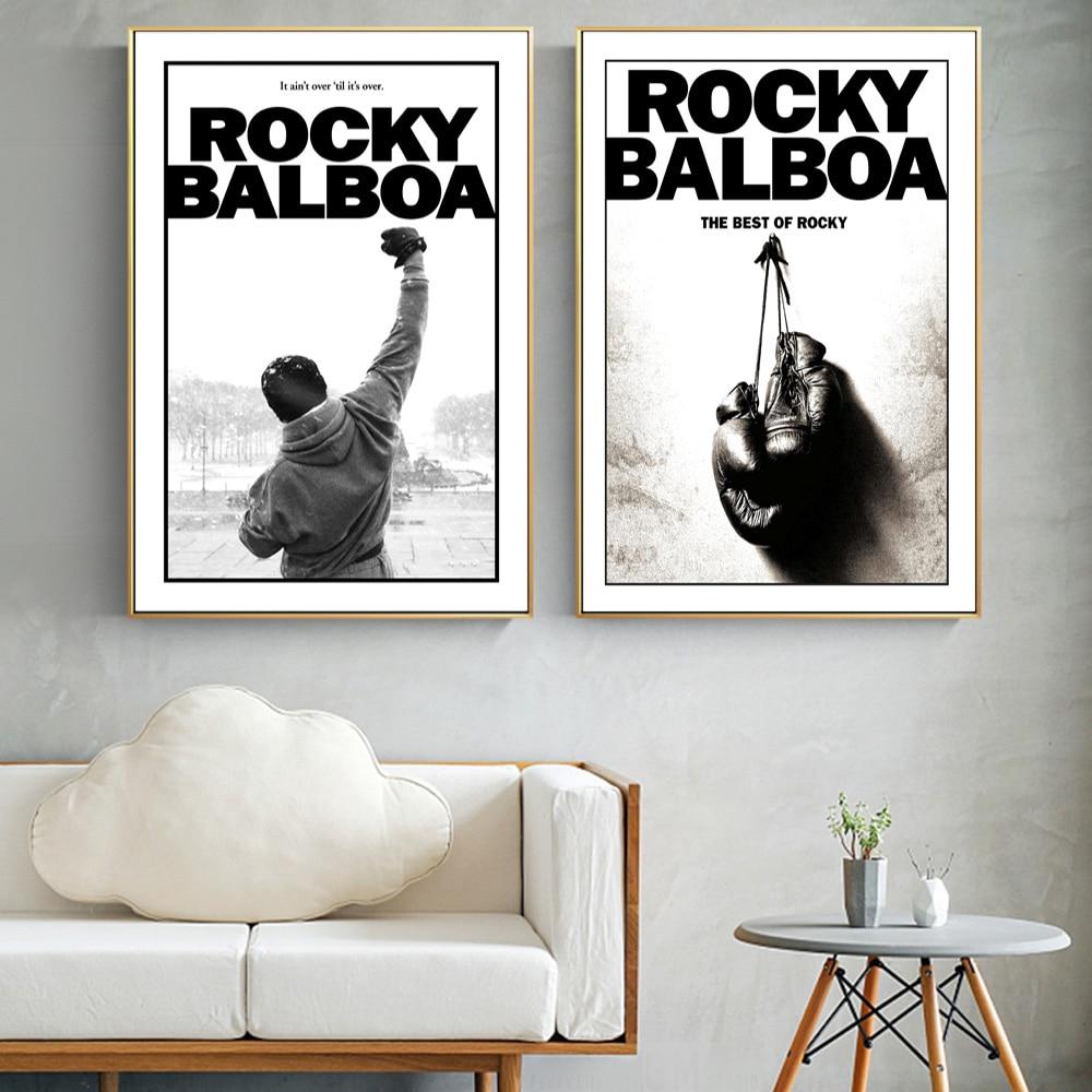 Klasik boks motivasyon filmi kayalık Film posterler ve baskılar boks kral inspiron duvar sanatı tuval yağlıboya oturma odası için
