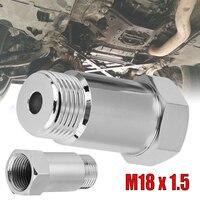 SALE High grade NICKEL Plated Steel 1Pcs Φ45mm 02 O2 Oxygen Sensor Extension Spacer extender M18x1.5 Bung Adapter CEL Fix  CSV|Exhaust Gas Oxygen Sensor| |  -