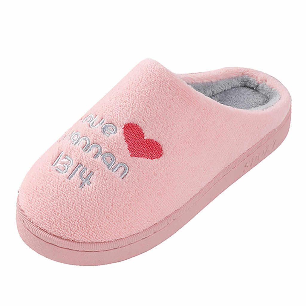 Slip Op Indoor Slippers Vrouwen Leuke Warme Katoen Zachte Pluche Thuis Slippers Vrouwen Slippers Bodem Zachte Thuis Schoenen zapatos de mujer