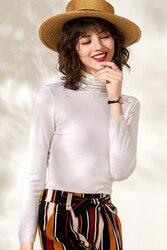 JECH2019 primavera y otoño ropa mujer pulóver mujeres cuello pila suéter de punto de Cachemira lana mujer suéter