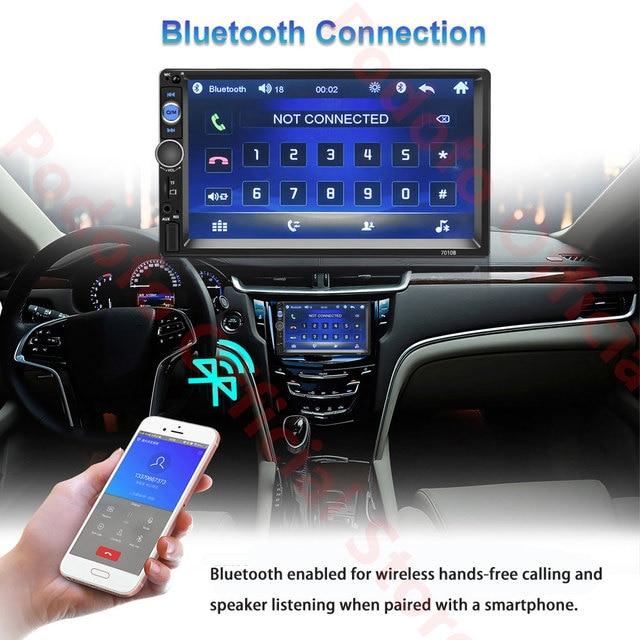Lecteur multimédia Podofo 2Din Android autoradio RAM 2G + ROM 32G Navigation GPS BT FM WiFi sans dvd 2 DIN Radio pour VW Nissan Kia 3