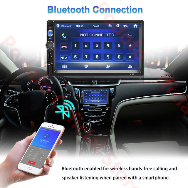 Podofo 2Din Android Car Radio Multimedia Player RAM 2G + ROM 32G GPS Navigation BT FM WiFi No dvd 2 DIN Radio For VW Nissan Kia 3