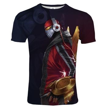 2020 League Of Legends 3D Printed T-shirt Game Style Men Women Casual Streetwear Tshirt LOL Unisex Hip Hop T shirt Trendy Tops 1
