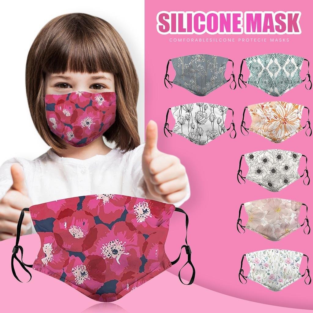 Kids Mouth Maske Printing Face Maske Cover Dustproof Reusable Kids Washable Face Maske Respirator With Adjustable Earloops