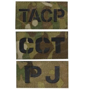 PJ TACP-Parche de táctica Militar con lazo reflectante infrarrojo, insignia SWAT, parches DIY para ropa, pegatina para Parche Militar