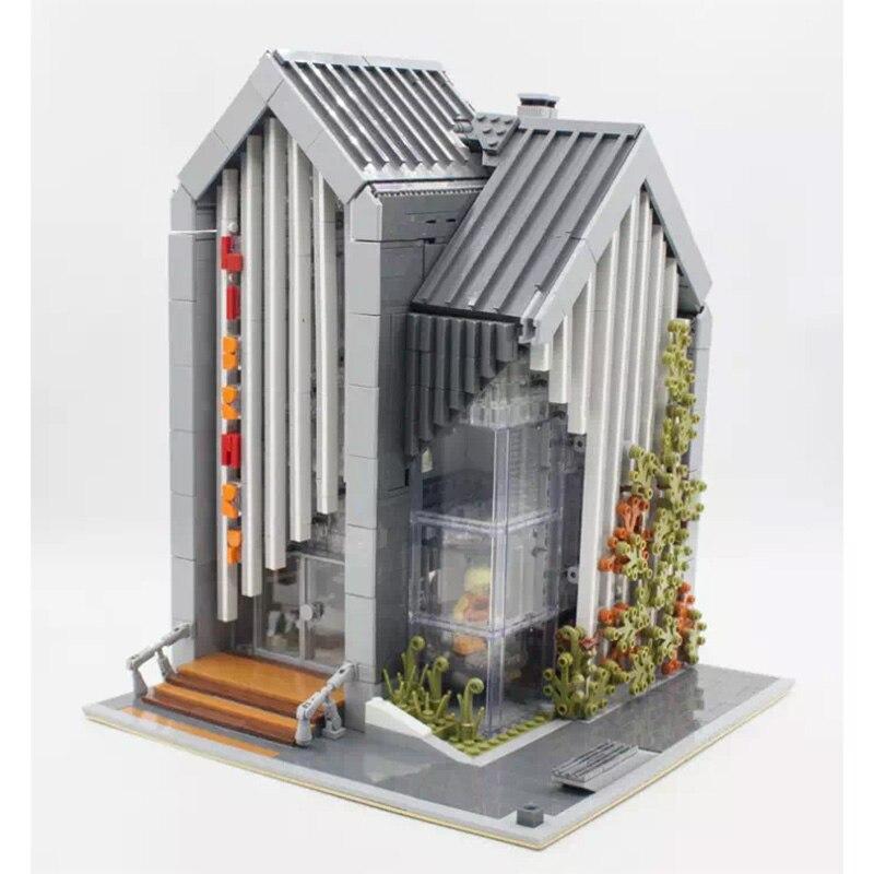 MOC 2734pcs City Streetview Series The Brickstive Modern Library Model Building Blocks Bricks Kids Toys Gifts Christmas Gifts