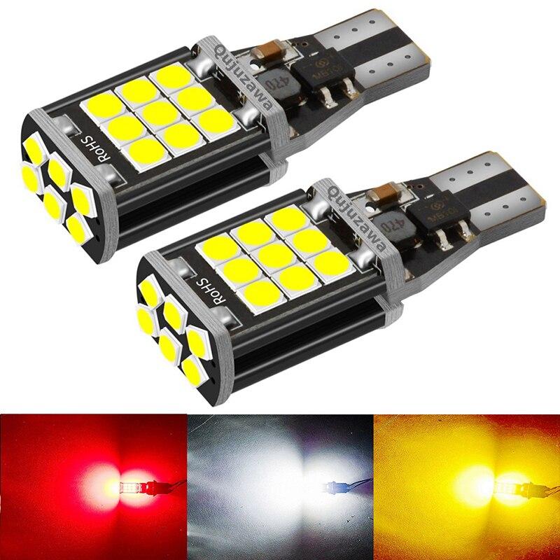 2 предмета T15 WY16W 24 SMD супер яркий светодиодный автомобиля задние светодиодные лампы стоп сигнала поворотники Canbus Авто Bcakup Обратный лампы дне...