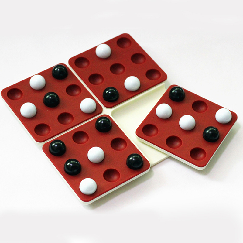 Wooden Board Game Puzzle Children Black And White Beads Chess Rotating Backgammon Magic Pentago Game