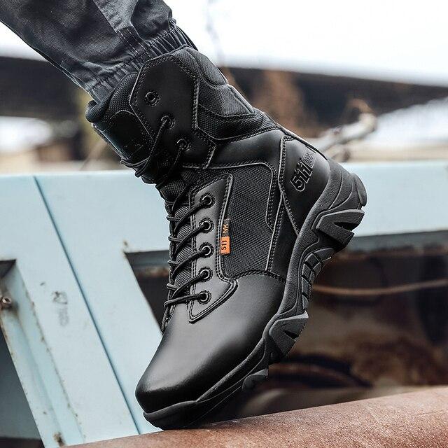 Botas de exterior para hombre calzado militar de seguridad para el trabajo resistente al agua c