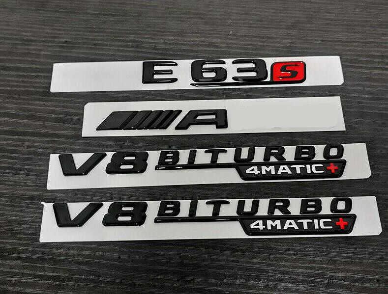 "1pcs Gloss Black /"" E63s /"" Letters Trunk Embl Badge Sticker for Mercedes Benz E63"