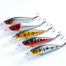 fishing lure jigging 5-color 8cm/9g bionic bait 3D Eyes Crankbait Fishing Wobblers tackle winter