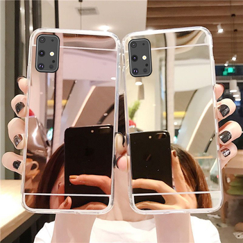 Mirror Phone Case Soft Cover for Samsung Galaxy A51 A71 A10 A20 A20e A30 A30s A40 A50 A70 A80 A11 A21 A21s A31 A41 A81 A91 M11 image